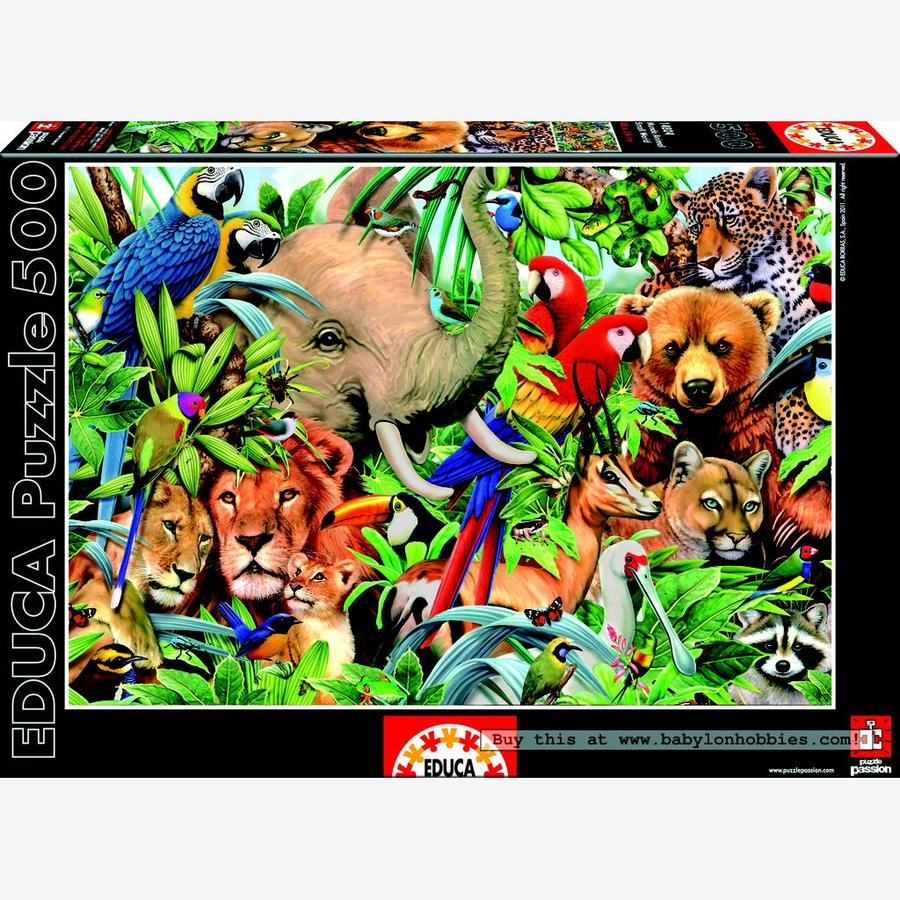 Animal Small World - 500 Piece Puzzle (14804)