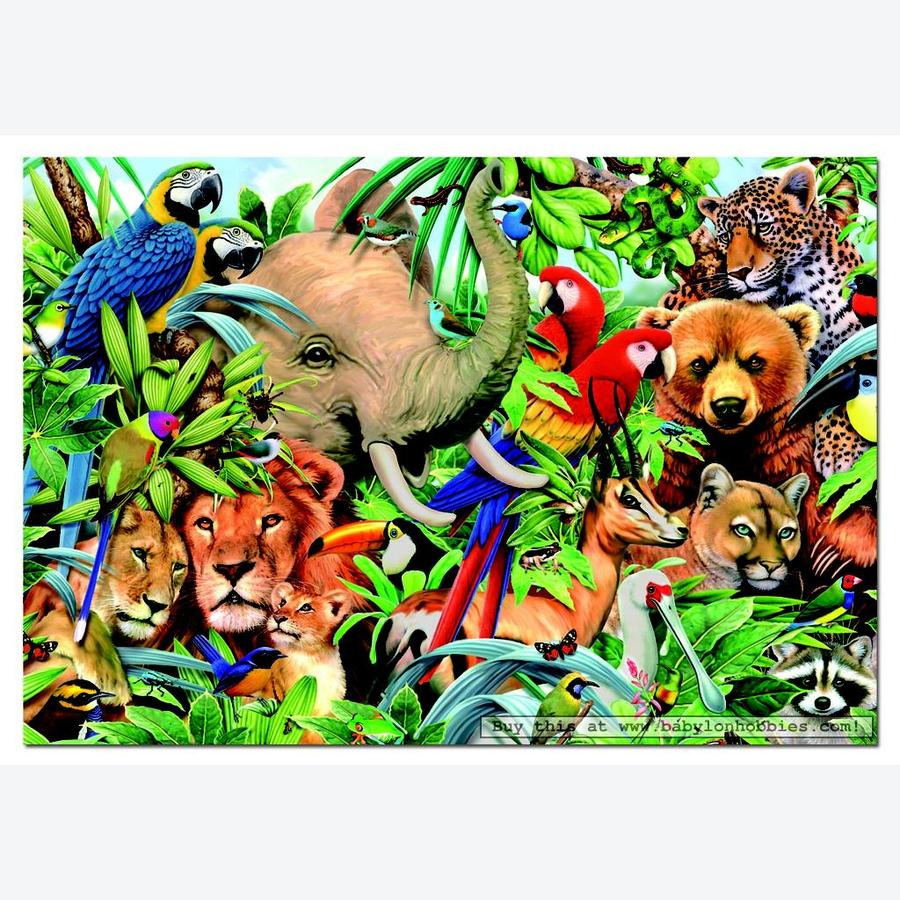 Animal Small World - 500 Piece Puzzle (14804), 500 Pieces ...