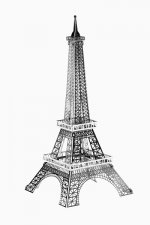 Metal model - Eifel Tower