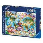 Disney's World Map - 1000pc