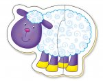 Baby Puzzles - Farm (6 two Piece Puzzles)