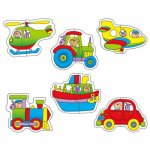 Baby Puzzles - Transport (6 two Piece Puzzles)