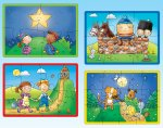 Nursery Rhyme - Four in a Box Progressive Puzzles