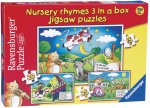 Nursery Rhymes 3 in a Box Progressive Puzzles