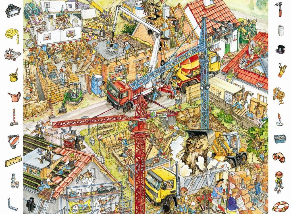 Look and find building site 84 pieces 4 6 years Where to find a builder