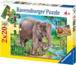 Lions & Elephants Puzzle - 2 x 20pc