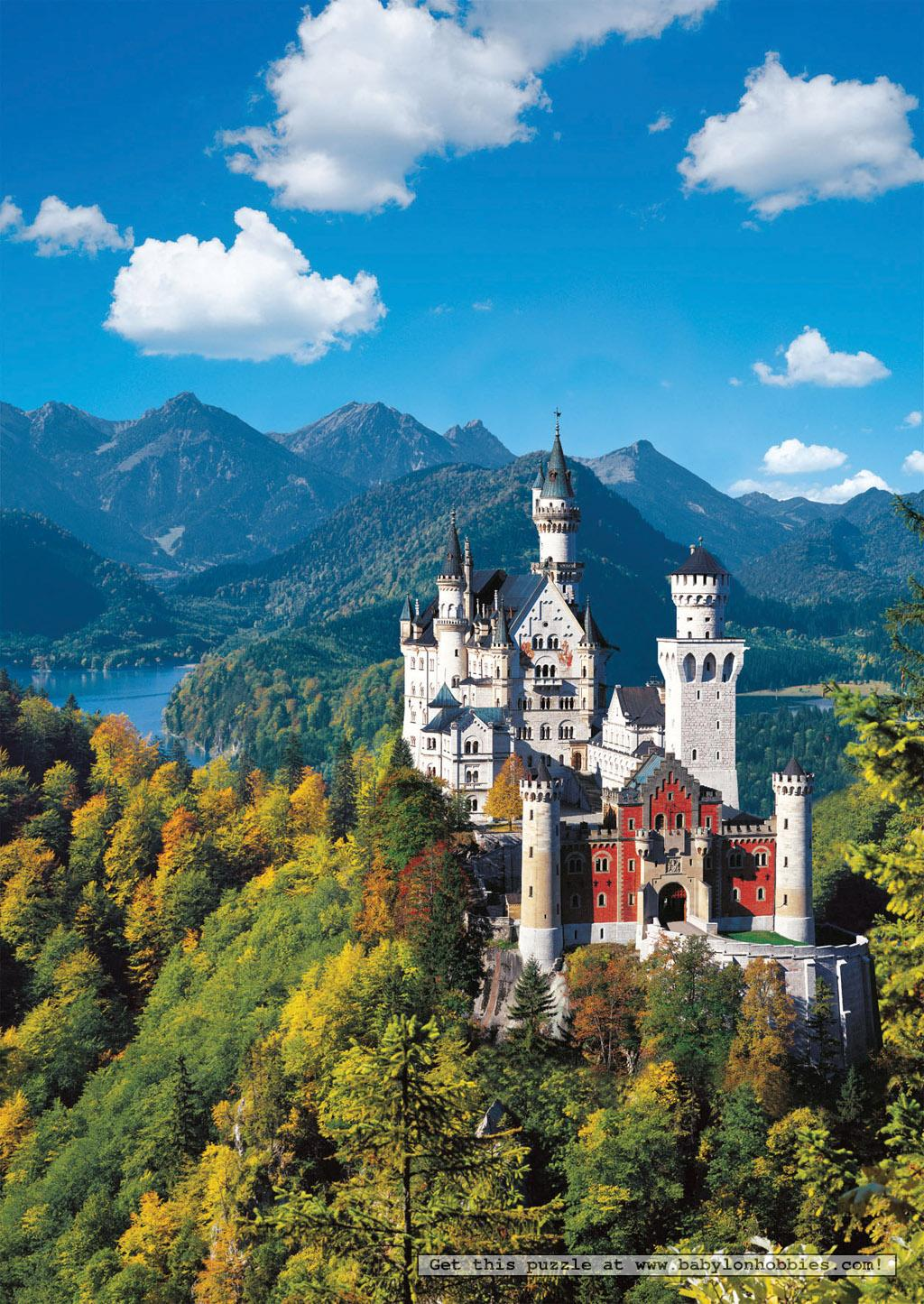 neuschwanstein castle puzzle 500pc 500 pieces jigsaw. Black Bedroom Furniture Sets. Home Design Ideas