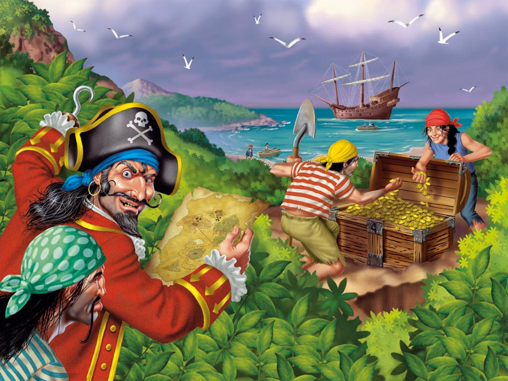 Pirates treasure puzzle 100pc 100 pieces jigsaw puzzles the