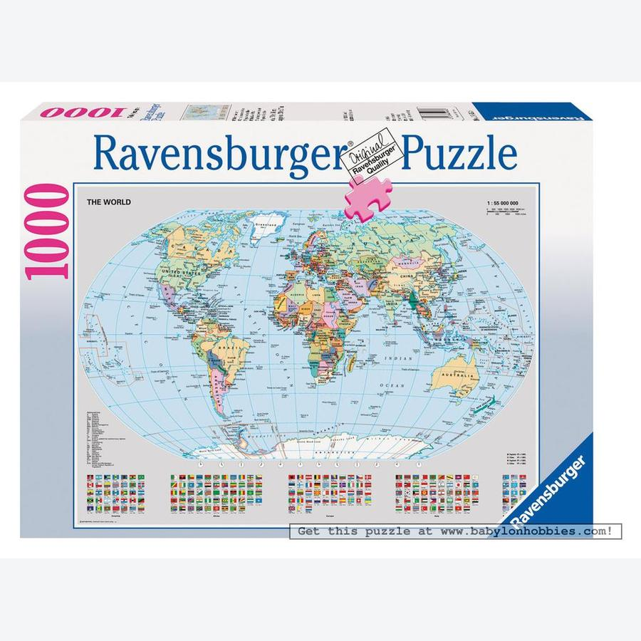 Political world map puzzle 1000pc 1000 pieces jigsaw puzzles political world map puzzle 1000pc gumiabroncs Image collections